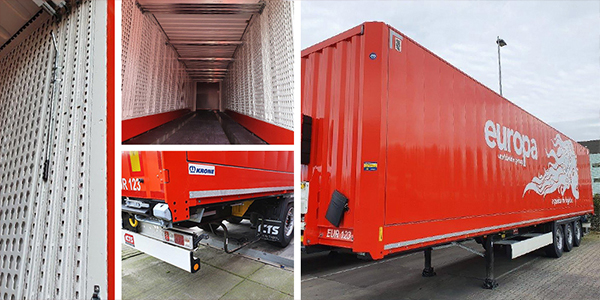 20 extra box trailers voor Europa Road.