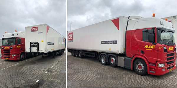 Box trailers voor MAAT Transport.